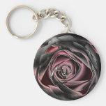 color de rosa negro llaveros