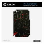 Color de rosa negro skins para iPod touch 4G
