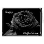 Color de rosa negro tarjeta de felicitación