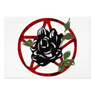 Color de rosa negro y Pentagram Anuncio