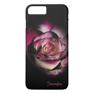 Color de rosa oscuro funda iPhone 7 plus