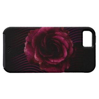Color de rosa oscuro funda para iPhone 5 tough