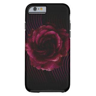 Color de rosa oscuro funda para iPhone 6 tough