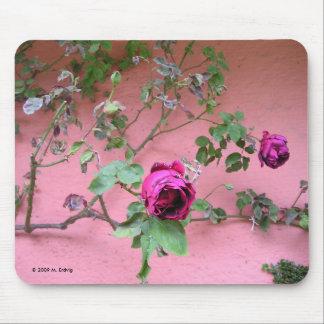Color de rosa pasado del verano tapete de ratones