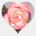 color de rosa pegatina corazón