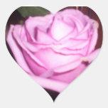 color de rosa pegatina en forma de corazón