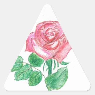 Color de rosa pegatina triangular