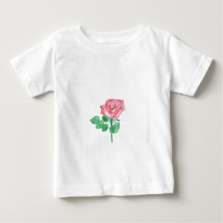 Color de rosa playera de bebé