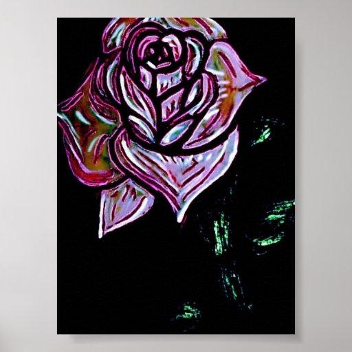Color de rosa polvoriento impresiones