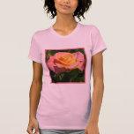 Color de rosa poner crema anaranjado camiseta
