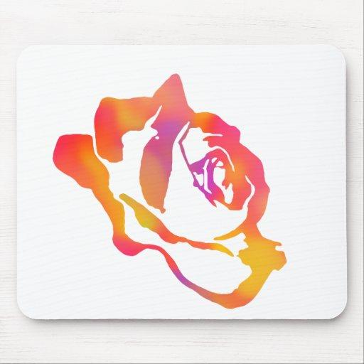Color de rosa psicodélico tapetes de ratones