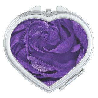 Color de rosa púrpura de fibro espejos de maquillaje
