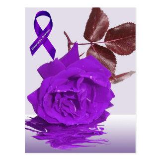 Color de rosa púrpura de fibro tarjeta postal