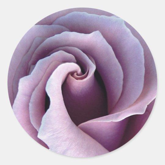 Color de rosa PÚRPURA de la LILA - sello del sobre Pegatina Redonda