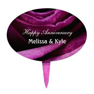 Color de rosa púrpura dramático elegante hermoso c decoraciones de tartas