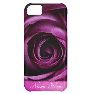 Color de rosa púrpura dramático elegante hermoso c funda iPhone 5C