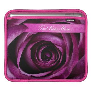 Color de rosa púrpura dramático elegante hermoso c funda para iPads