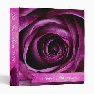 """Color de rosa púrpura dramático elegante hermoso carpeta 1"""""""