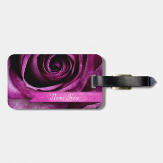 Color de rosa púrpura dramático elegante hermoso etiquetas bolsas