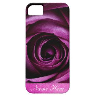 Color de rosa púrpura dramático elegante hermoso funda para iPhone SE/5/5s