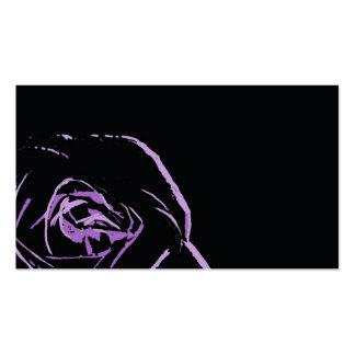 color de rosa púrpura en el negro - tarjeta de vis tarjeta de visita