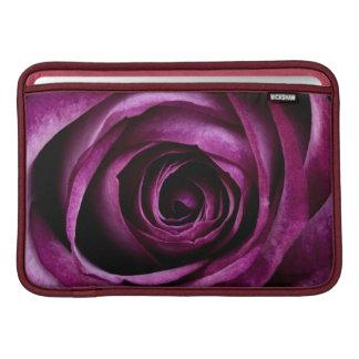 Color de rosa púrpura funda para macbook air