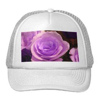Color de rosa púrpura pálido gorras de camionero