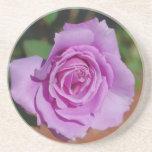Color de rosa púrpura posavasos manualidades