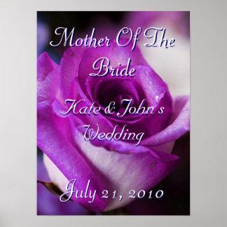 Color de rosa púrpura póster