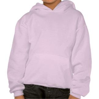 Color de rosa púrpura y gatito sudadera pullover