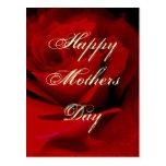 Color de rosa rojo oscuro magnífico feliz del día postal