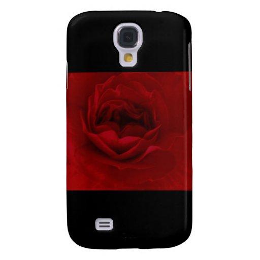Color de rosa rojo sangre funda para galaxy s4