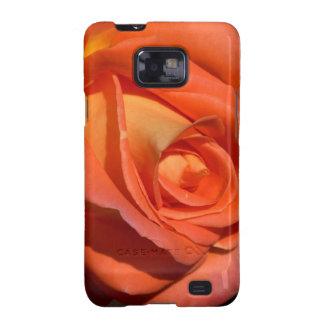 Color de rosa rojo y anaranjado galaxy s2 carcasa