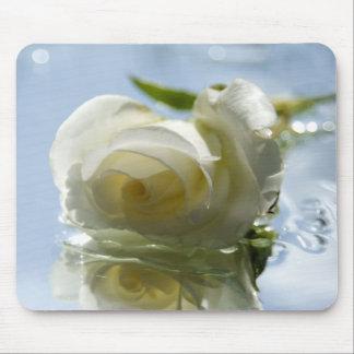 color de rosa romántico blanco alfombrilla de ratón