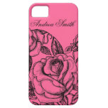 Color de rosa romántico iPhone 5 Case-Mate funda