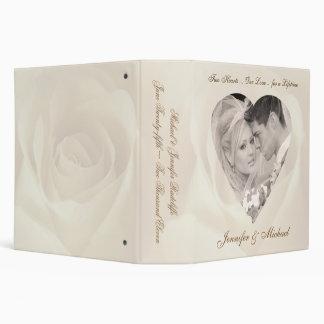 """Color de rosa romántico - personalizado casando la carpeta 2"""""""