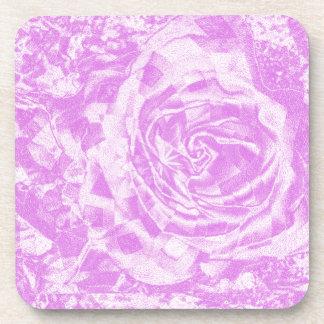 Color de rosa romántico posavasos de bebida