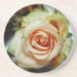 Color de rosa romántico posavasos manualidades