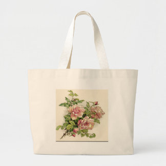 Color de rosa rosáceo del verano bolsa de mano