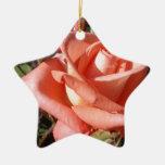 Color de rosa rosado amelocotonado adornos