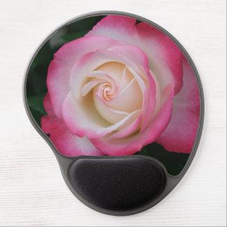 Color de rosa rosado blanco maravilloso alfombrilla gel