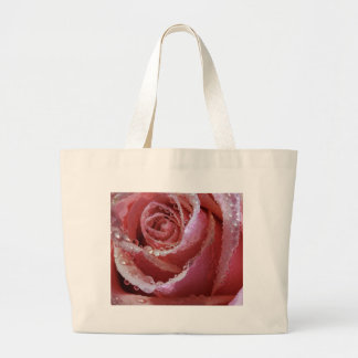 Color de rosa rosado bolsas de mano