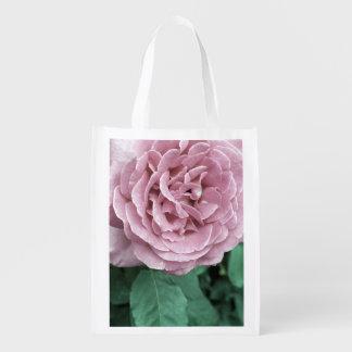 Color de rosa rosado bolsas para la compra