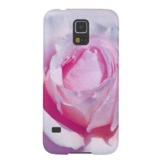 Color de rosa rosado bonito carcasa de galaxy s5