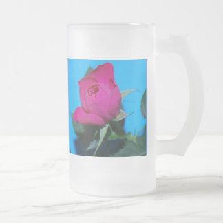 Color de rosa rosado bonito taza de café
