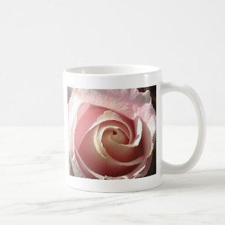 Color de rosa rosado bonito taza básica blanca