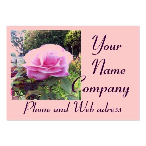 Color de rosa rosado con la tarjeta de visita de 2