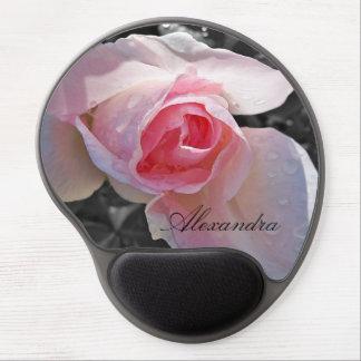 Color de rosa rosado de B&W Alfombrilla Gel