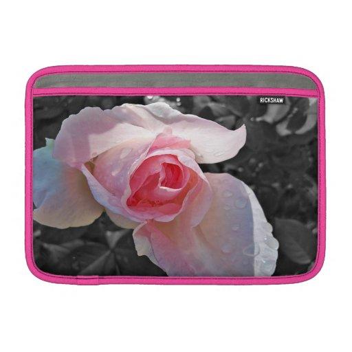 Color de rosa rosado de B&W Funda Para Macbook Air