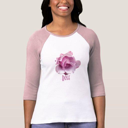Color de rosa rosado de la lavanda camiseta